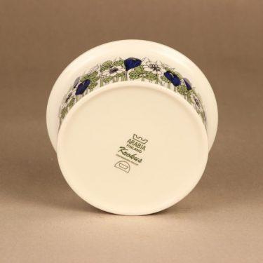 Arabia Krokus kulho, vihreä, suunnittelija Esteri Tomula, serikuva, kukka kuva 2