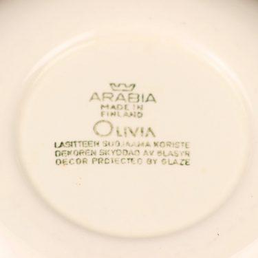 Arabia Olivia lautanen, syvä, suunnittelija Raija Uosikkinen, syvä, kukka, asbrakti kuva 3