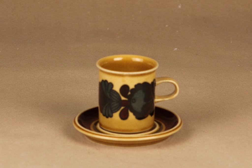 Arabia Otso kahvikuppi, ruskea, suunnittelija Raija Uosikkinen,