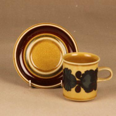 Arabia Otso kahvikuppi, ruskea, suunnittelija Raija Uosikkinen,  kuva 2