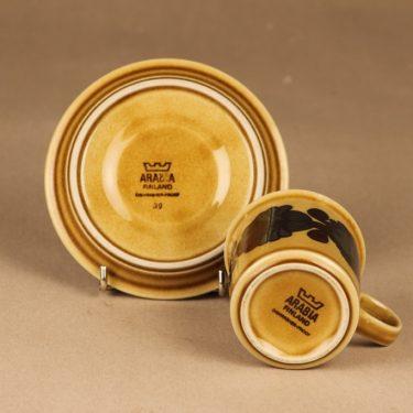 Arabia Otso kahvikuppi, ruskea, suunnittelija Raija Uosikkinen,  kuva 3