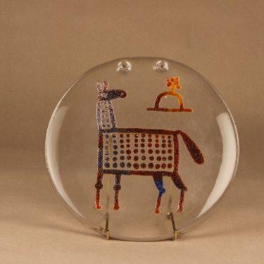 Nuutajärvi Riippu taide-esine, uniikki, suunnittelija Oiva Toikka, uniikki, hevonen