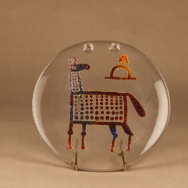 Nuutajärvi Riippu art glass, unique designer Oiva Toikka