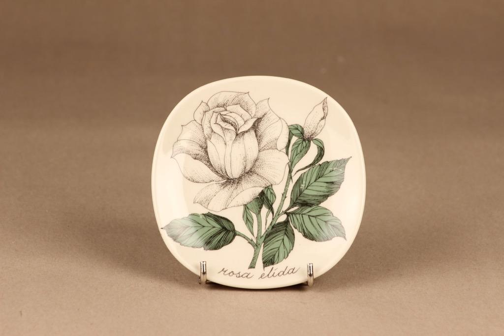 Arabia Rosa koristelautanen, Rosa Elida, suunnittelija Esteri Tomula, Rosa Elida, ruusu