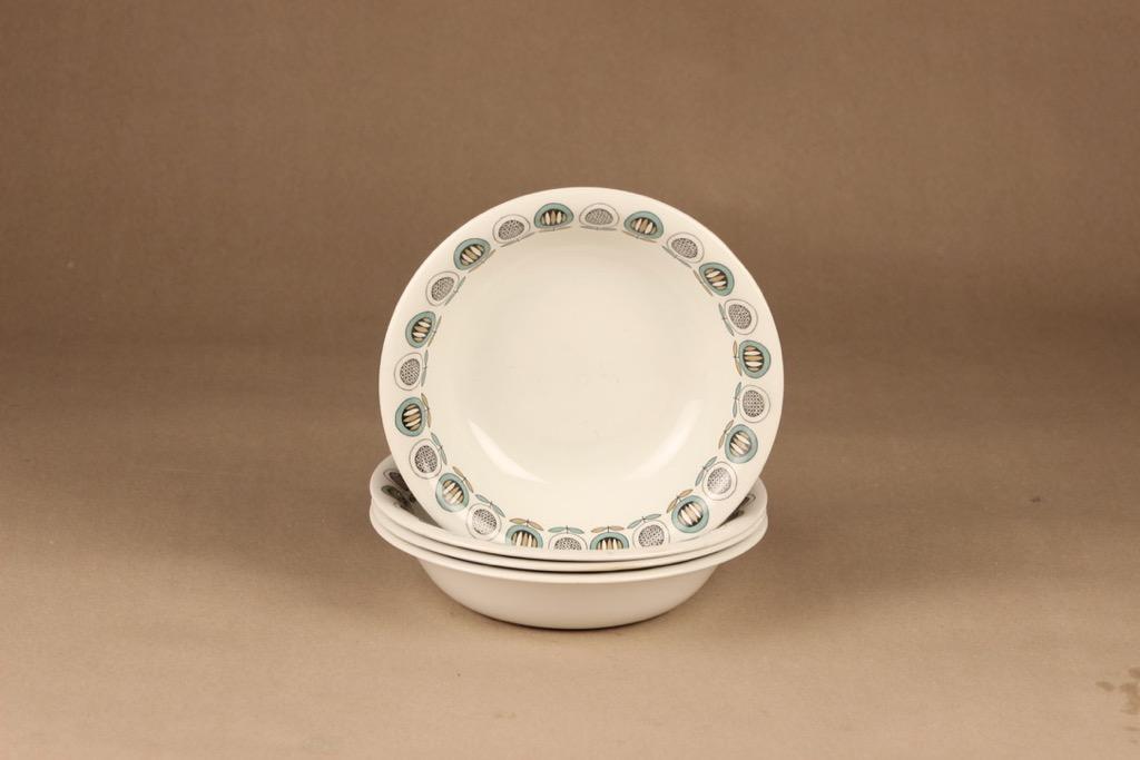 Arabia Olivia soup plate, 4 pcs designer Raija Uosikkinen