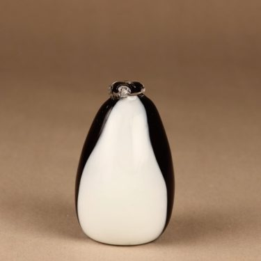 Nuutajärvi lintu , Pingviini, suunnittelija Oiva Toikka, Pingviini, signeerattu kuva 3