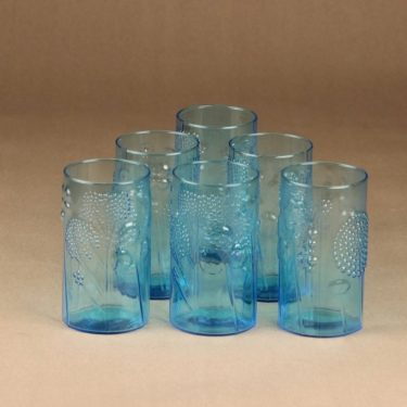 Nuutajärvi Flora glass, 30 cl, 6 pcs designer Oiva Toikka