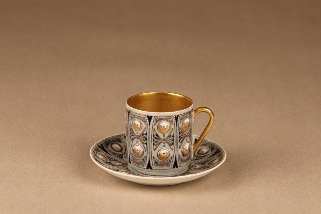 Arabia Milla mokkakuppi, käsinmaalattu, suunnittelija Esteri Tomula, käsinmaalattu