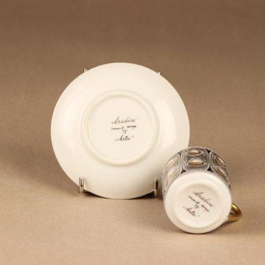 Arabia Milla mokkakuppi, käsinmaalattu, suunnittelija Esteri Tomula, käsinmaalattu kuva 3