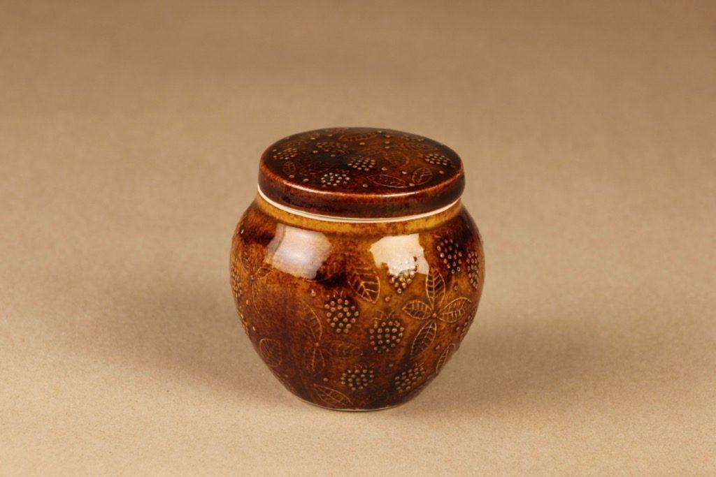 Arabia hillopurkki, ruskea, suunnittelija Ulla Procope,