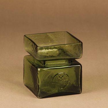 Riihimäen lasi Pala vase, green designer Helena Tynell