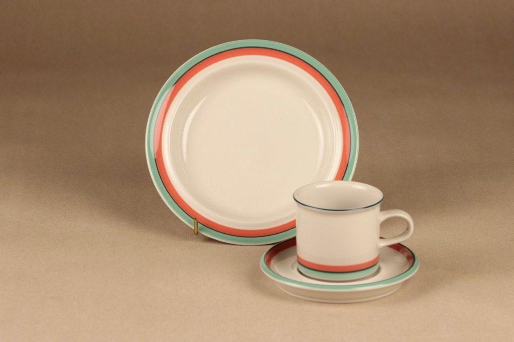 Arabia Milja kahvikuppi, raitakoriste, suunnittelija , raitakoriste