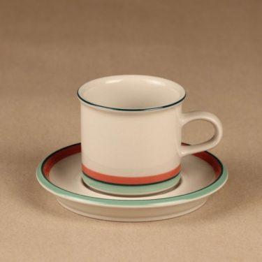 Arabia Milja kahvikuppi, raitakoriste, suunnittelija , raitakoriste kuva 2