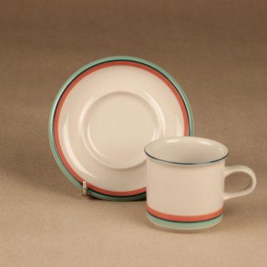 Arabia Milja kahvikuppi, raitakoriste, suunnittelija , raitakoriste kuva 3