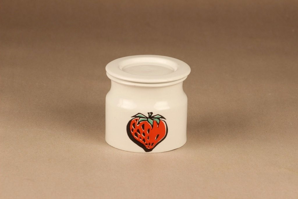 Arabia Tutti Frutti jar with lid Strawberry designer Ulla Procope