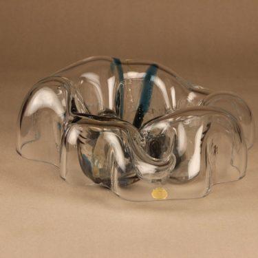 Riihimäen lasi Kuukävely art glass, signed designer Helena Tynell