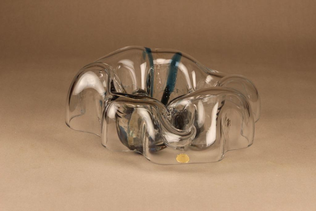 Riihimäen lasi Kuukävely taidelasi, signeerattu, suunnittelija Helena Tynell, signeerattu, signeerattu
