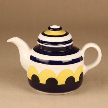 Arabia Paju teekaadin, käsinmaalattu, suunnittelija Anja Jaatinen-Winquist, käsinmaalattu, Signeerattu, 1 l