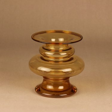 Riihimäen lasi Tornado vase amber designer Tamara Aladin