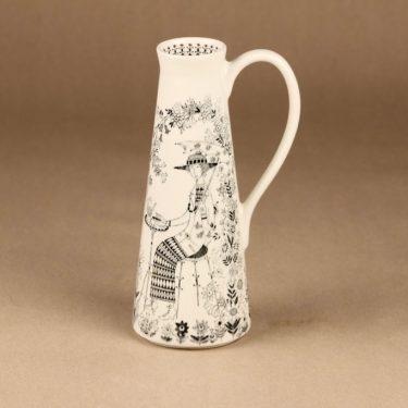 Arabia Emilia vase, black-white Raija Uosikkinen