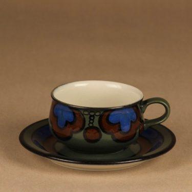 Arabia Kalevala kahvikuppi, käsinmaalattu, suunnittelija Peter Winquist, käsinmaalattu