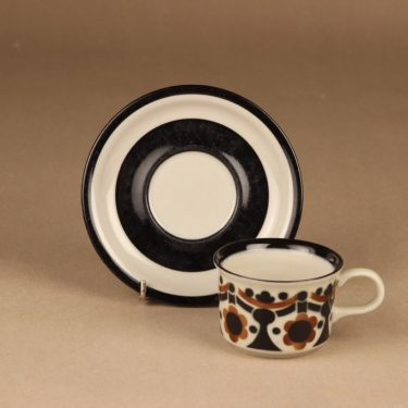 Arabia Riikka kahvikuppi, ruskea, musta, suunnittelija Anja Jaatinen-Winquist,  kuva 2