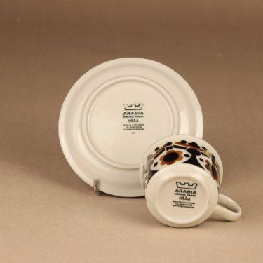 Arabia Riikka kahvikuppi, ruskea, musta, suunnittelija Anja Jaatinen-Winquist,  kuva 3