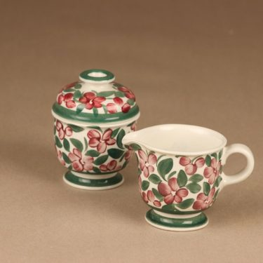 Arabia Purpurijenkka sugar bowl and creamer designer Ulla Procope