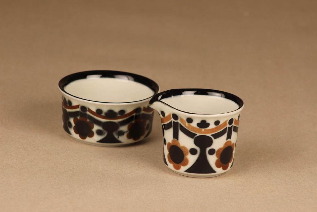 Arabia Riikka sugar bowl and creamer designer Anja Jaatinen-Winquist