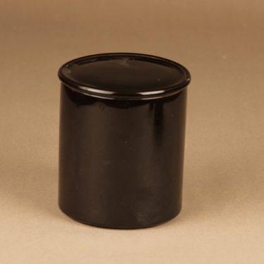 Arabia Kilta jar with lid, black designer Kaj Franck