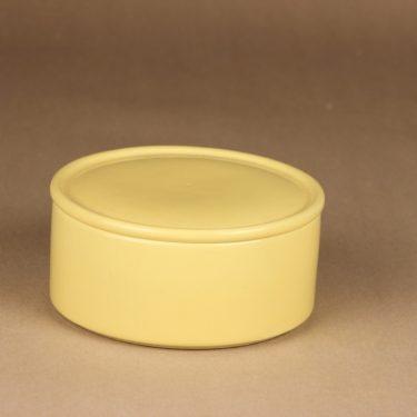 Arabia Kilta jar with lid, yellow designer Kaj Franck