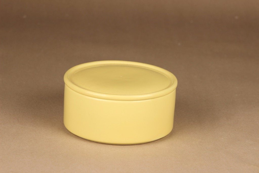 Arabia Kilta jar with lid, yellow designer Kaj Franck