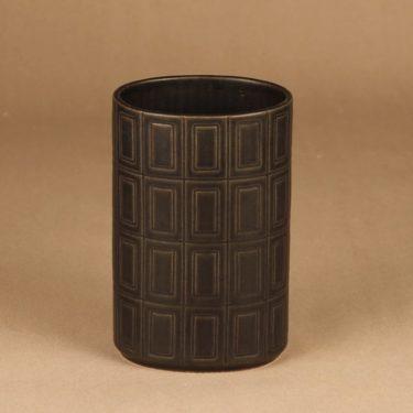 Arabia 400 maljakko, ruskea, suunnittelija Göran Bäck, ruskea, funktionalismi