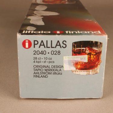Iittala Pallas on the rocks-lasi, 28 cl, 4 kpl, suunnittelija Tapio Wirkkala, 28 cl kuva 3