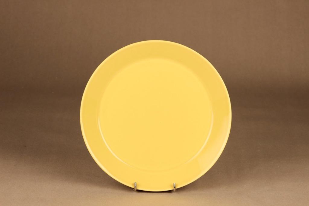 Arabia Teema lautanen keltainen suunnittelija Kaj Franck