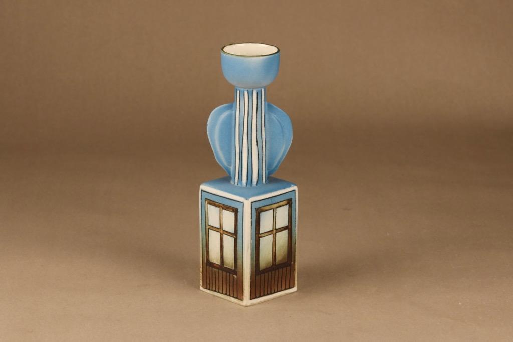 Arabia kynttilänjalka käsinmaalattu suunnittelija Heljä Liukko-Sundström