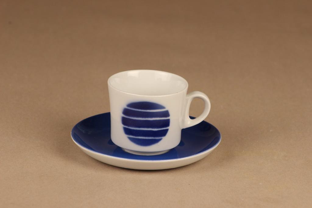 Arabia  coffee cup blue, blow decorative