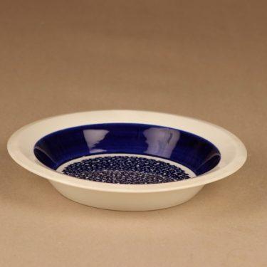 Arabia Faenza soup plate, blue designer Inkeri Seppälä