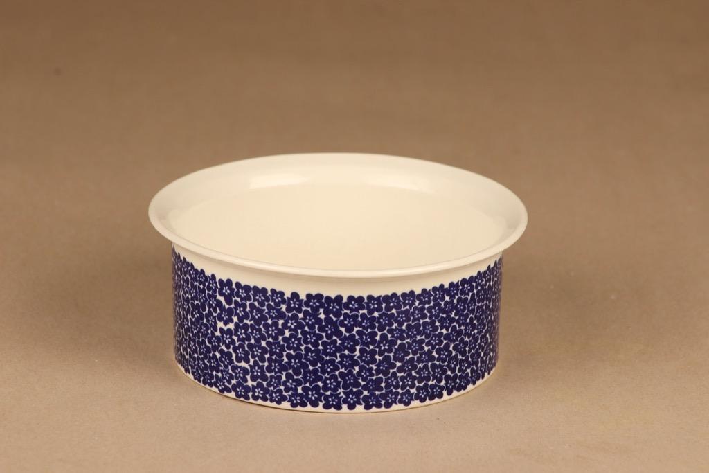 Arabia Faenza kukka kulho, sininen, suunnittelija Inkeri Seppälä, kukka