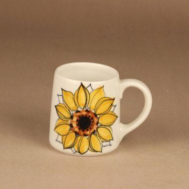 Arabia Aurinkoruusu mug, hand-painted designer Hilkka-Liisa Ahola