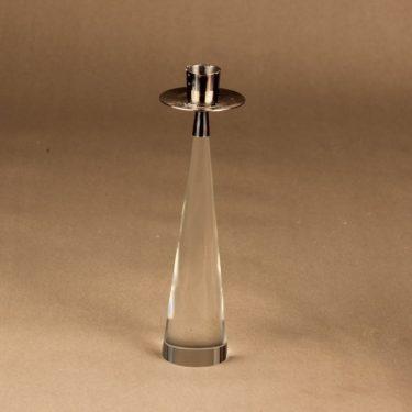 Iittala Ascot kynttilänjalka, kirkas, hopea, suunnittelija Timo Sarpaneva, kirkas, hopea