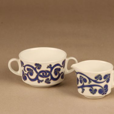 Arabia Lyydia sugar bowl and creamer designer Laila Hakala