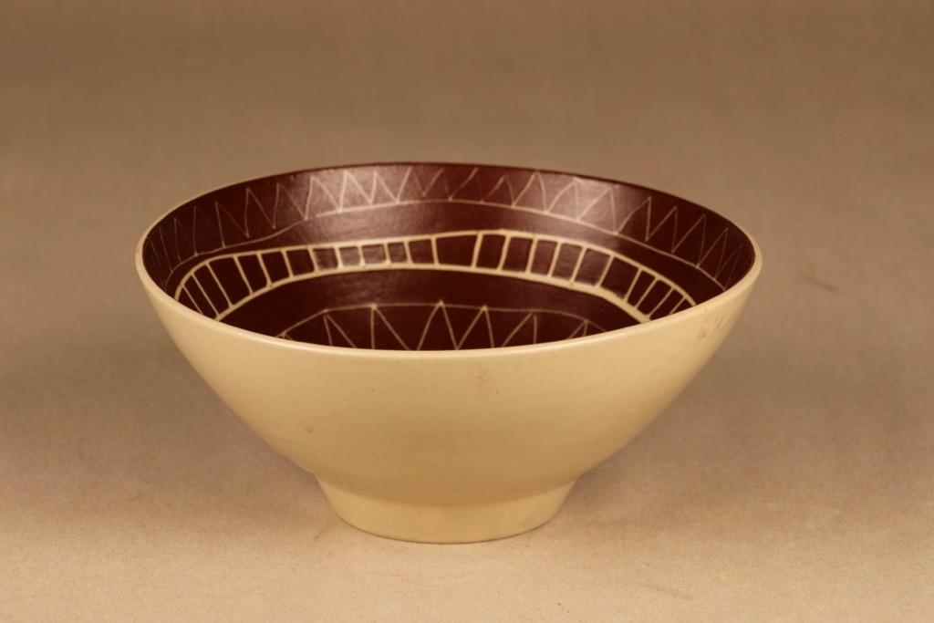 Arabia Siena bowl, hand-scratched designer Raija Uosikkinen