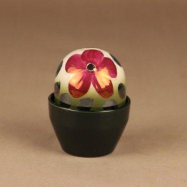Arabia HLS Ikikukka, punainen anemone, suunnittelija Heljä Liukko-Sundström, punainen anemone