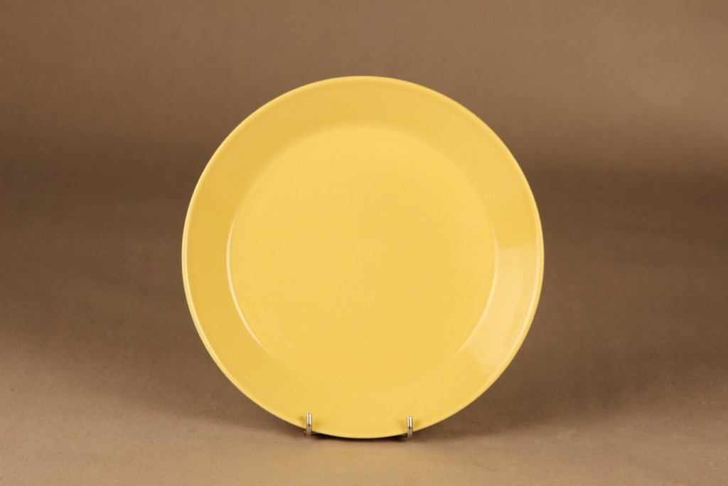 Iittala Teema salaattilautanen, keltainen, suunnittelija Kaj Franck,