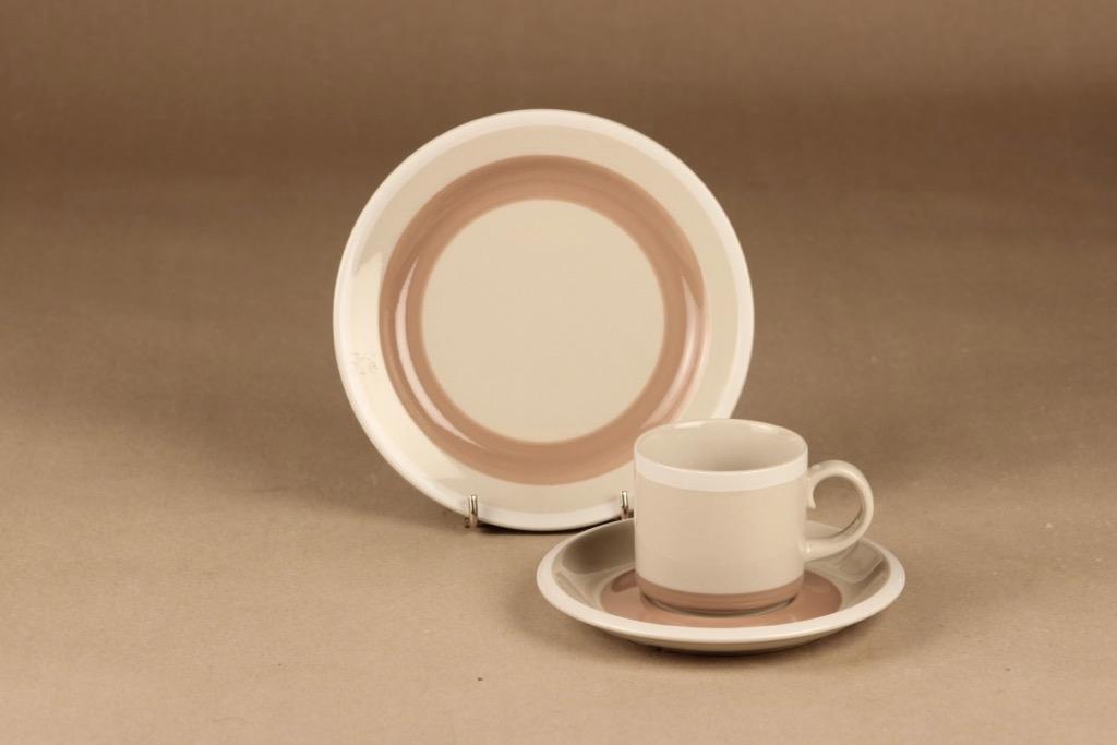 Arabia Tupa coffee cup and plates(2) designer Anja Jaatinen-Winquist