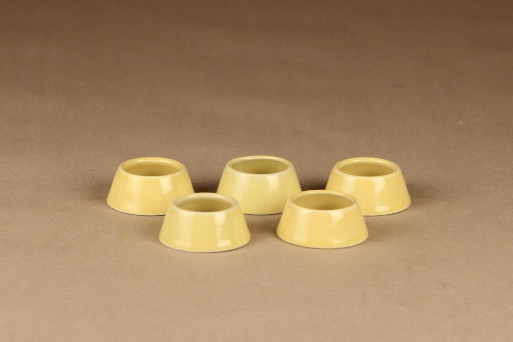 Arabia Kilta egg ring yellow 5 pcs designer Kaj Franck