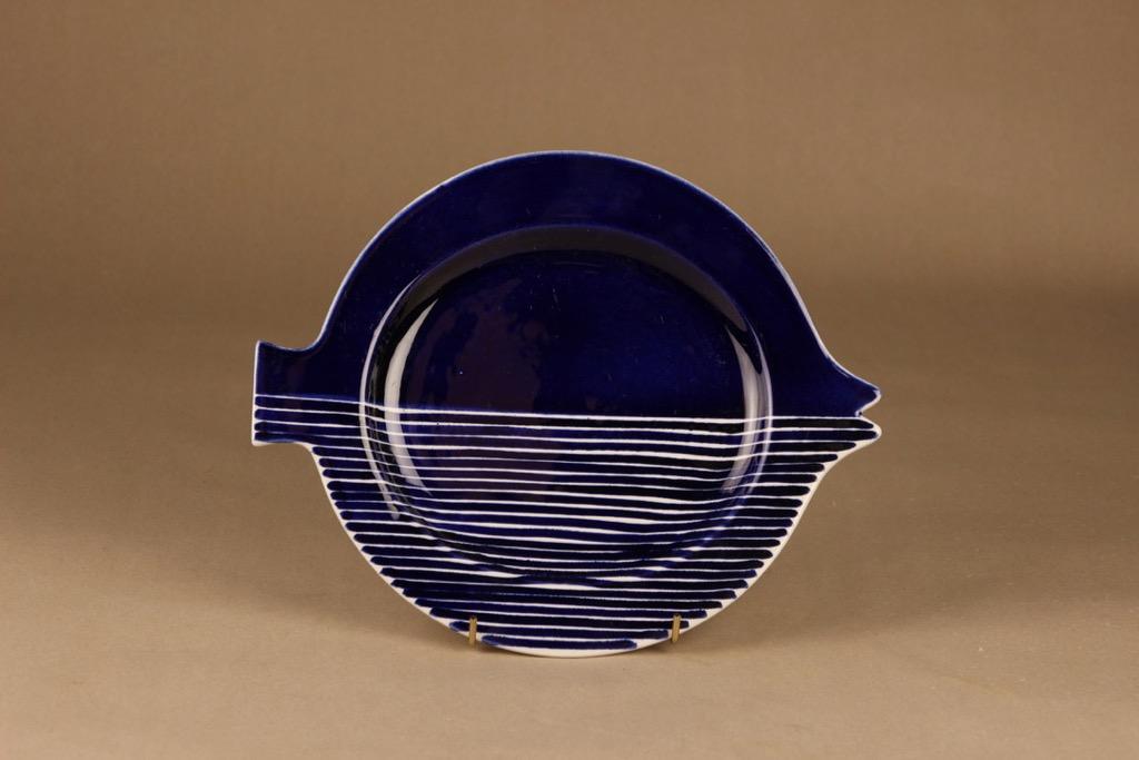 Arabia GOG lautanen, käsinmaalattu, suunnittelija Gunvor Olin-Grönqvist, käsinmaalattu, signeerattu