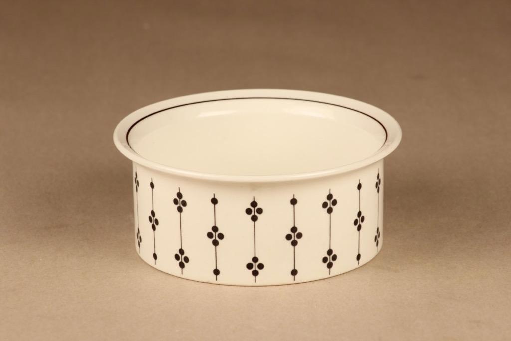Arabia Kartano kulho, mustavalkoinen, suunnittelija Esteri Tomula,