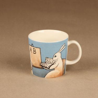 Arabia Teema Bunny mug In School designer  Heljä Liukko-Sundström